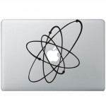 Atoom (2) MacBook Sticker Zwarte Stickers